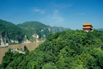 Three Gorges fantastic scenery in Spring
