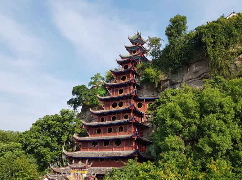 Shibaozhai Pagoda along the Yangtze River