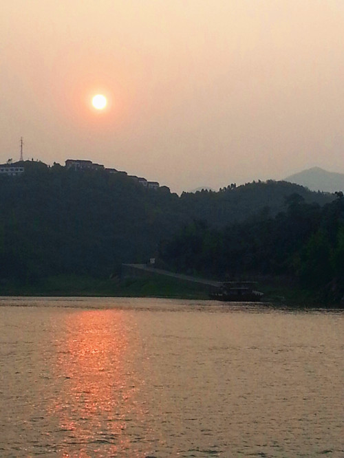 Sunset on Yangtze River