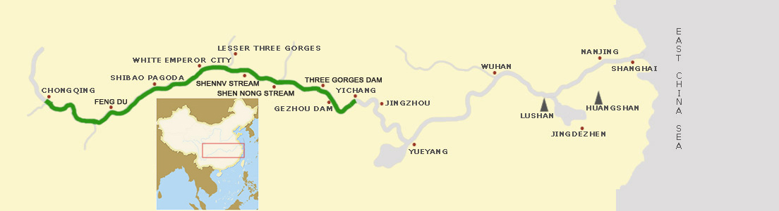 Yangtze River Cruises Chongqing Yichang 2018/2019 Weekly Sailings
