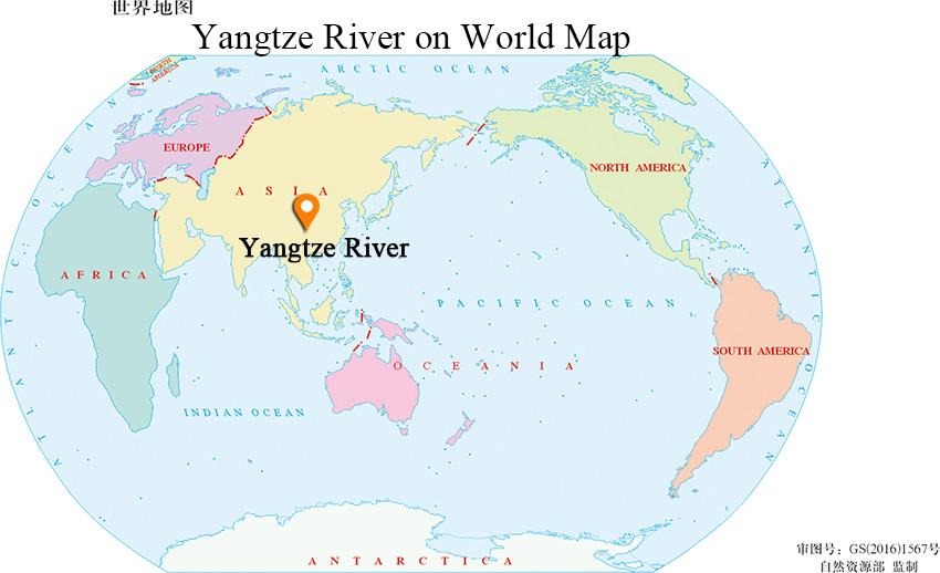 Yangtze River On World Map Yangtze River Map, Changjiang River Map