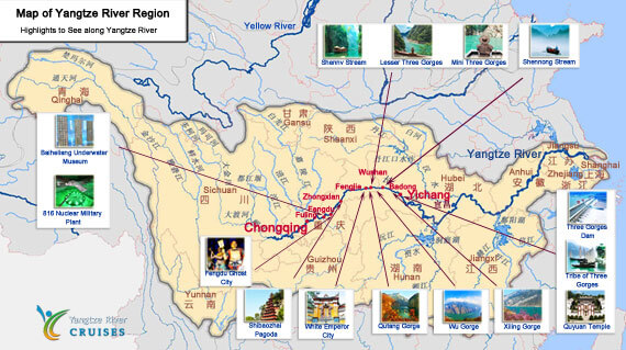 Yangtze River China Map