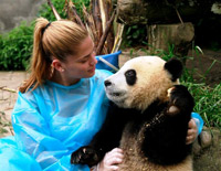 Volunteer in Bifengxia Panda Base