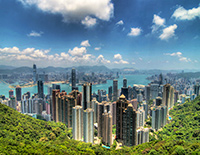 Appreciate Hong Kong Skyline form Victoria Peak