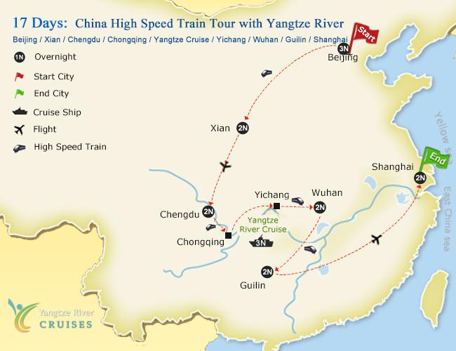 17 days beijing xian chengdu yangtze wuhan guilin shanghai tour 17 days china high speed train tour with yangtze river gumiabroncs Image collections