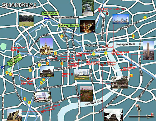 Subway Map Shanghai Tourist.Shanghai Map Shanghai City Travel Attraction Metro Map
