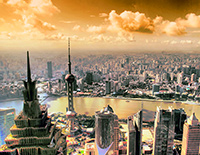 Have Panoramic View on the Top of Shanghai World Financial Center