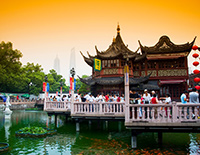 Yu Garden with Traditional Design of Chinese Architecture