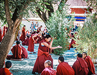 Spectacular Buddhism Debating in Sera Monastery
