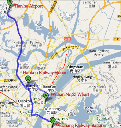 Map of Wuhan Port & Transfer