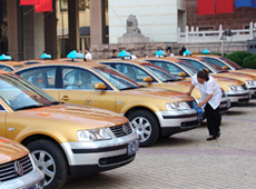 Taxis in Wuhan