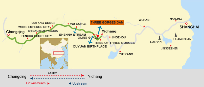 Chongqing Yichang Route Map