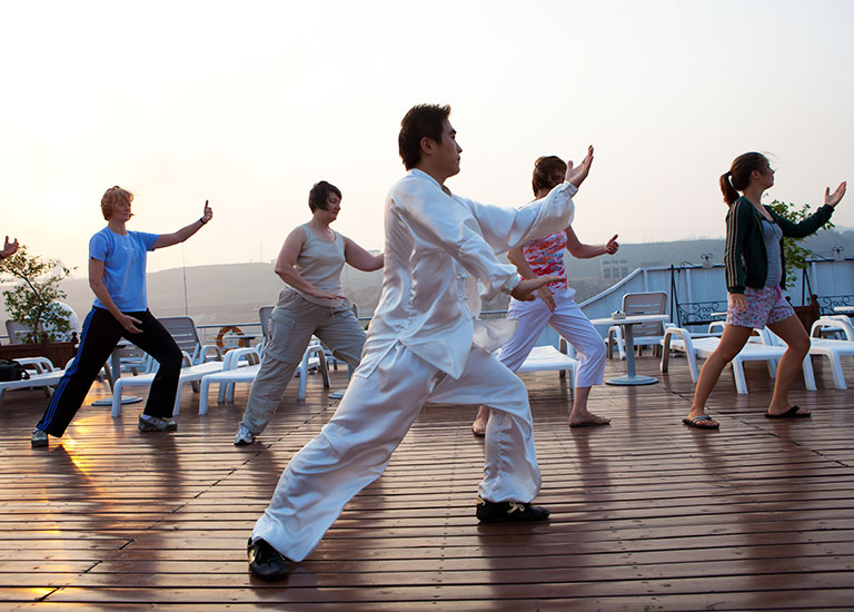 Playing Taichi on Century Sun