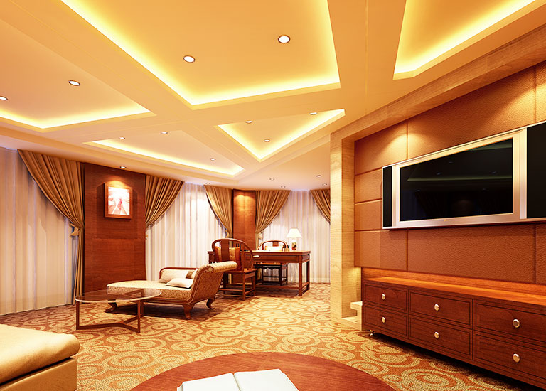 Living Room of Presidential Suite on Century Cruises