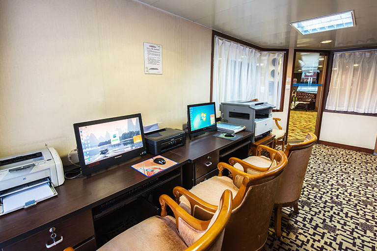 Business Center on Changjiang Cruises