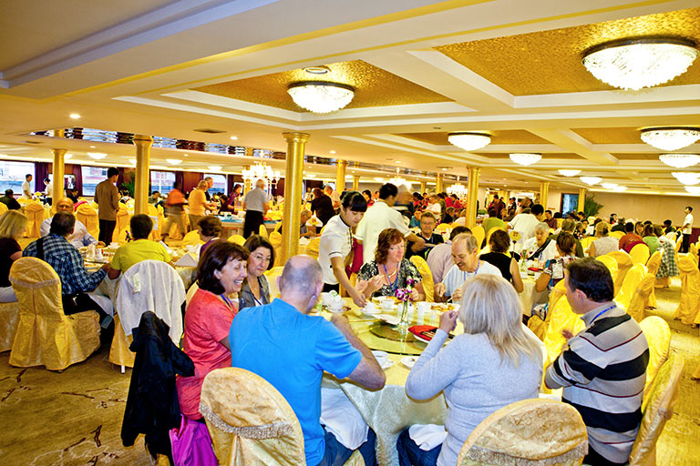Dining on Yangtze Gold Cruises