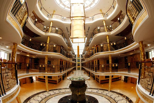 Lobby of Yangtze Gold Cruises