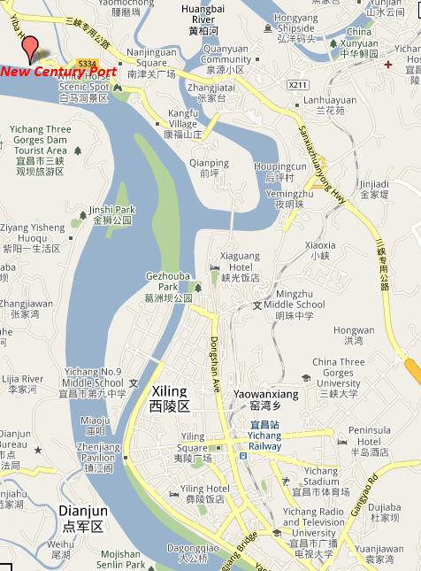 Yichang Tourist Attraction Map