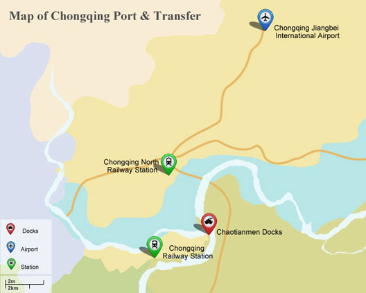 Map of Chongqing Port