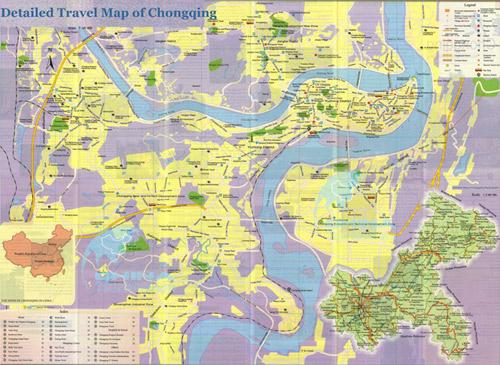 Chongqing Map Chongqing China Map Chongqing Yangtze Map