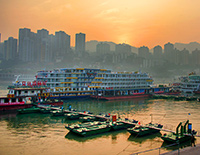 Board Yangtze Cruise Ship at Chaotianmen Port