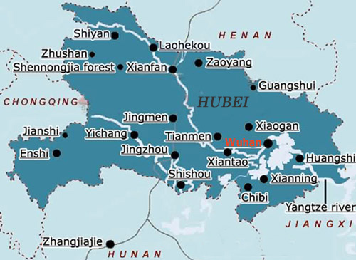 Wuhan Map Wuhan China Map Wuhan City Attraction Map