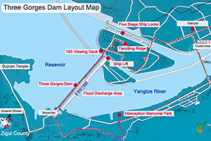Three Gorges Dam Layout Map