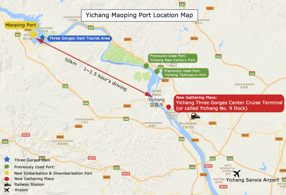 Yichang Maoping Port Map