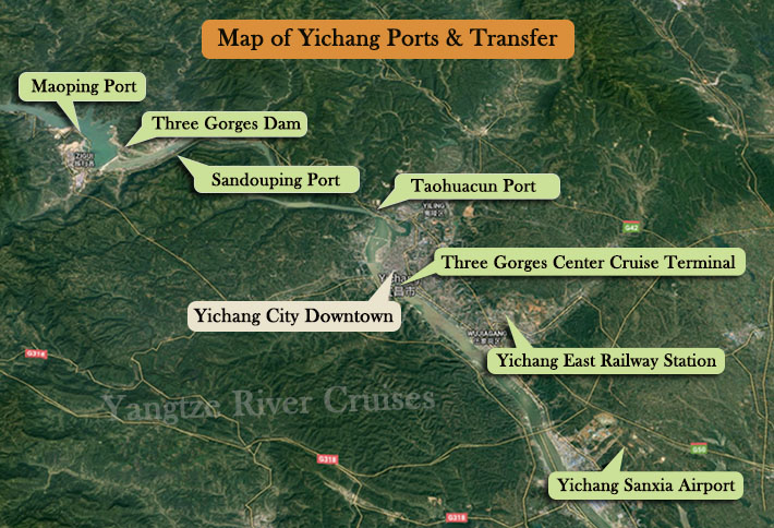 Map of Chongqing Port & Transfer