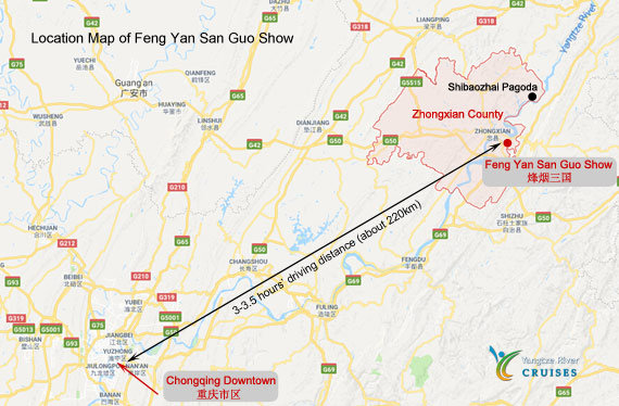 Feng Yan San Guo - Zhongxian Location Map