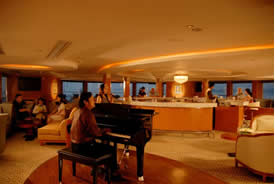 enjoy the music in the piano bar