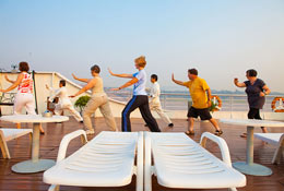 Every guest on Yangtze Cruise will have a chance to practice Taichi Quan.