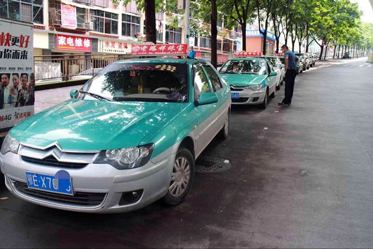 Taxis in Yichang City