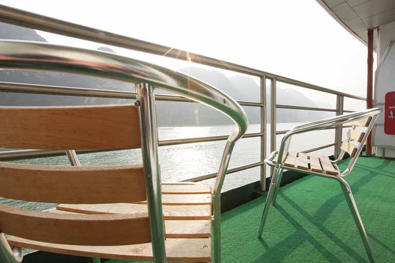 Private Balcony of each room onboard