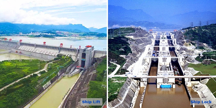 Three Gorges Dam Ship Lift Ship Lift Amp Ship Lock Difference