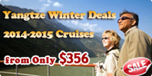 2014-2015 Yangtze Cruises Winter Deals