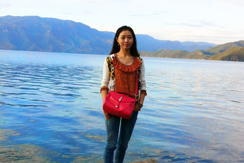 Wendy visited Lugu Lake in Yunnan Province